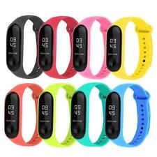 8pcs/Set Silicone Bracelet Replacement Watchband for Xiaomi Mi Smart Band 4 3