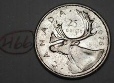 Canada 1976 25 cents Canadian Caribou Quarter Coin Lot #466