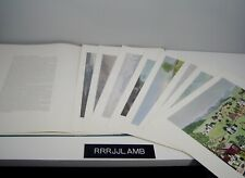 "Portfolio of 8 Prints of GRANDMA MOSES PAINTINGS each 14 x 19"" in Book Cover Box"