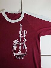 Vintage Virginia Beach 80's Ringer Ocean Thin T Shirt S