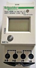 LOT DE 3 COMPTEURS D'ENERGIE DIGITAL SCHNEIDER : ME1z 230VAC Imax: 63A