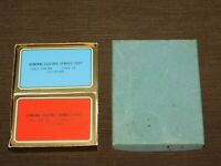 VINTAGE 2 DECKS OF PLAYING CARDS GE GENERAL ELECTRIC SERVICE SHOP PHILA PA