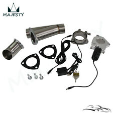 "3"" Electric Exhaust Catback Downpipe Cutout E-Cut out Valve kit Switch Control"