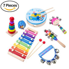 7pcs/set Kids Musical Instrument Set Percussion Toys Music Early Education Tool
