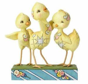 Jim Shore Trio Of Chicks Hooray For Spring 6001077 MIB
