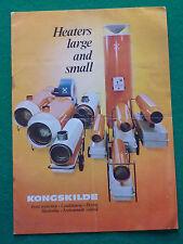 KONGSKILDE HEATER CATALOGUE 1972 (DIRECT INDIRECT FIRED BROCHURE) DENMARK