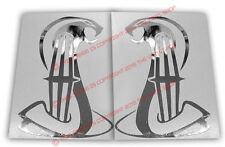 Left & Right Cobrastar CHROME decal vinyl Lincoln Mark VIII VII Continental