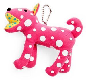 YAYOI KUSAMA 'Ring-Ring Dog' Art Plush Handbag Charm, Phone Strap, Keychain NWT!