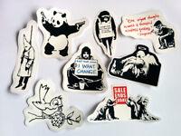 Banksy Sticker Set Vinyl Decal Pack Car Bike Street Art Graffiti Skate Panda BMX