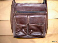vintage brown leather FOSSIL PURSE/SHOULDER BAG #75082 sturdy good condition