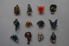 6 x BEN 10 SHOE CHARMS PARTY FAVOR CAKE DECORATION SCRAPBOOKING