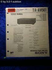 Sony Service Manual TA AV561 Amplifier (#3664)