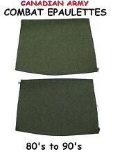 2 x CANADIAN ARMY EPAULETTES - COMBAT - 80's TO 90's - NEW - LR/XXT