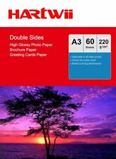 A3 Double Sided High Glossy Photo Paper 220Gsm Inkjet Paper Prinit - 60 Sheets