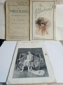 3 Original Vintage Theatre Programs 1920s