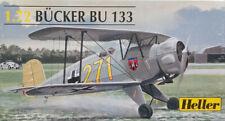 Heller 1:72 Bücker Bü-133. Luftwaffe Trainer. Kit Nr. 80228