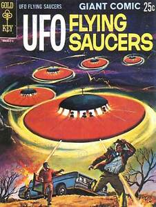 COMIC BOOK COVER UFO FLYING SAUCERS ALIEN SCI FI ART PRINT POSTER BB7787