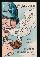 France advert SMOKING Pipe Bonne Annee New Year French PPC