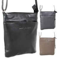 kleine Damen Ledertasche schwarz Handtasche Umhängetasche Schultertasche Leder
