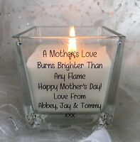 Personalised Mother Scented Candle Gift Mother's Day Birthday