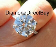 10.5mm Round Center Harro Gem Moissanite Solitaire