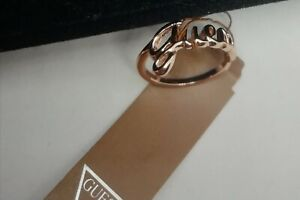 GUESS Rose Gold Plated Ring New With Tags Size UK N