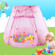 Pop Up Play House Kids Girls Pink Tent Children Indoor Outdoor Princess Castle