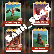 Shaolin Full Card New Set (  Fast Sending  ):- Coin Master Cards