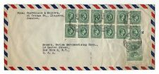 Jamaica 1946 MIXED LOT 5 Vintage AIR MAIL envelops post marked 1946 One censored