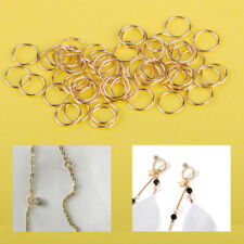 8mm Alloy Gold Small Key Chain Pendant Double Loop Split Jump Rings Jewelry