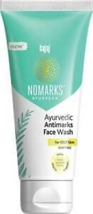 1 Pc Bajaj Nomarks Ayurvedic Antimarks Face Wash for Oily Skin 100 gm Free Ship