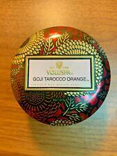 Voluspa GOJI TAROCCO ORANGE Mini Tin Candle 4oz - SAME DAY SHIPPING!