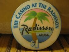 Vintage Radisson Aruba The Casino At The Radisson Palm Tree Graph $1 Casino Chip