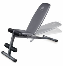 Weider WEBE4869 XR 5.9 Adjustable Workout Bench with 4 Roll Leg Lockdown + Chart