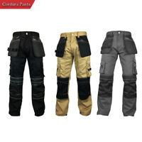 Mens Cargo Workwear Cordura Reinforcement Safety Utility Pant Mechanical Trouser