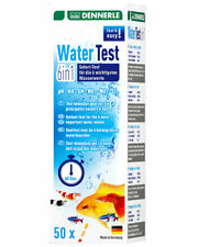Dennerle WaterTest 6fach Aquarium Teststreifen Nitrit Nitrat pH-Wert GH KH Chlor