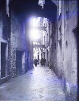 Italia Sicilia Scena Da Rue, Negativo Foto Stereo Placca Lente VR10L4n18