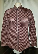 Express Men's Pearl Snap Button Up Size Large