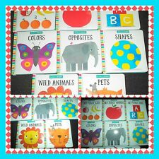 ABC 123 BOARD BOOKS MAKE BELIEVE IDEAS LTD LITTLE LIBRARY PRESCHOOL LEARNING LOT