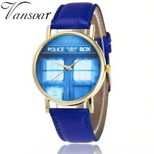 Doctor Who Watch Casual Women Tardis Wrist Watch Leather PhoneBooth Quarzt Watch
