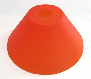 Lampenschirm aus Kunststoff für Stehlampen Pendellampen E-27, 24 cm orange