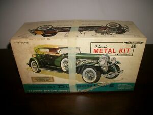 RARE ORIG. Hubley  Duesenberg Model SJ Metal Model Kit #4864  - HEAVY COMPLETE