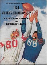 DEC 26, 1954 CLEVELAND BROWNS vs DETROIT LIONS WORLD CHAMPIONSHIP GAME PROGRAM