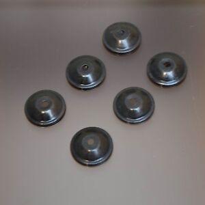 Ersatz Montur Messing Möbelknopf Blende Zubehör Gold Silber 6 x Blende schwarz