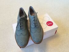 Boden Pale Green Suede Brogues Size 6