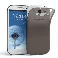 Ultra Slim Cover für Galaxy S3 / Neo Case Silikon Hülle Transparent Anthrazit