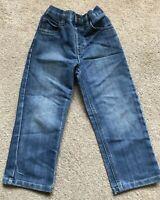 George Straight Leg Jeans Blue Adjustable Waist Age 4-5 Years