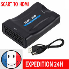 SCART Péritel vers HDMI Convertisseur HD TV Vidéo Audio Adaptateur +USB Câble
