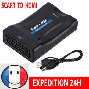 1080P HD SCART PERITEL VERS HDMI Convertisseur TV Vidéo Audio Adaptateur
