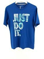 NIKE Boys T-Shirt Top L Large Blue Cotton